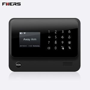 Image 2 - FUERS 2019 חדש 3G G90B אלחוטי WiFi GSM GPRS אבטחת אזעקת מערכת יכול חנות שש מעורר שיחת טלפון שני מעורר SMS App בקרה