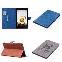 PU Leather Soft TPU Back Case For Amazon Kindle All New Fire HD 10 With Alexa
