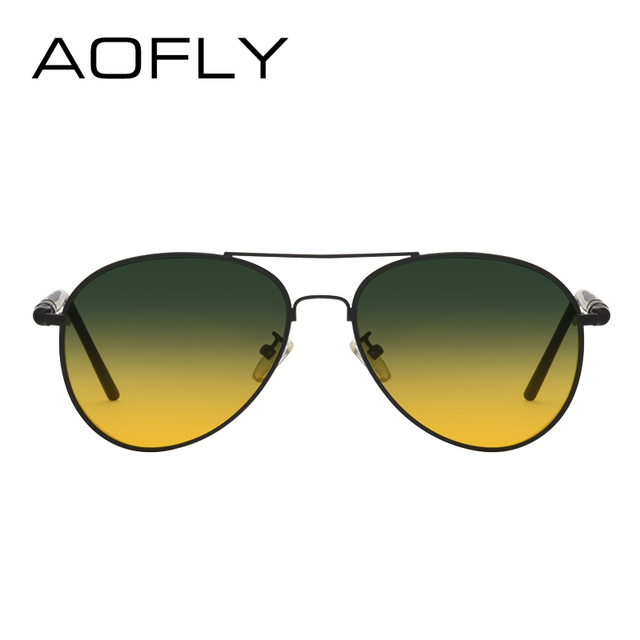 AOFLY Polarized Sunglasses Men's Night Vision Glasses Driving Anti-Glare Metal Frame Brand Design Goggles AF8047 2