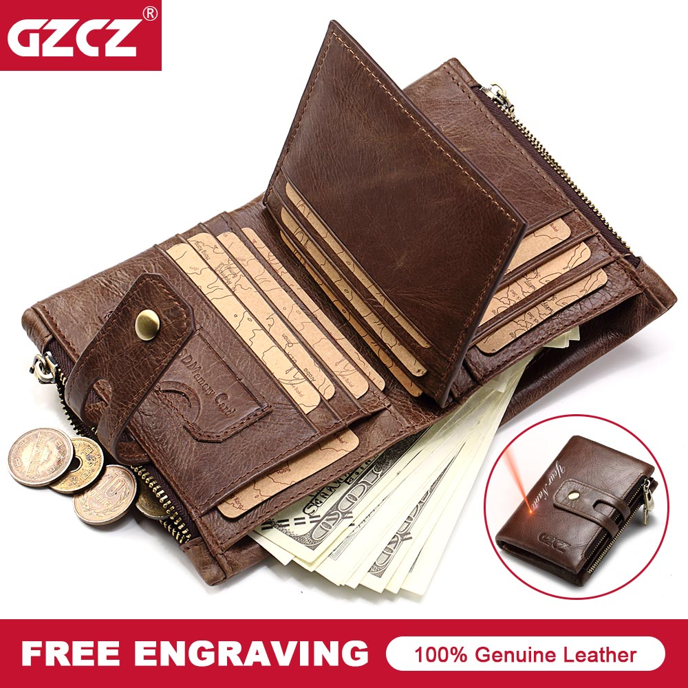Genuine Cow Leather Vintage Men Wallet Fashion Zipper&Hasp Coin Pocket Organizer Wallects High Quality Male Card ID Holder 2018 genuine cow leather vintage men wallet fashion zipper