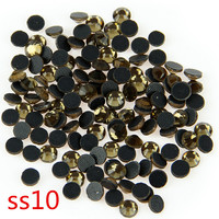 SS10 Smoke Topaz 500 Gross DMC Crystal Hot Fix Stone Class Irone Strass For Garment DIY