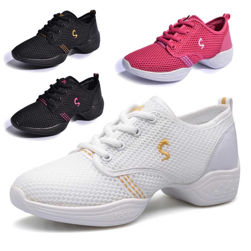 DUDELI Neue Sport Sind mit Weichen Laufsohle Atem Tanz Schuhe Turnschuhe Für Frau Praxis Schuhe Modern Dance Jazz Schuhe GSS85