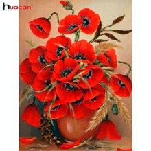 Huacan 5D DIY Diamond Painting Floral Mosaic Picture Of Rhinestones Embroidery Cross Stitch Flowers Resin Drill
