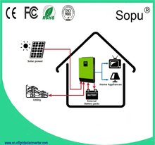 Free shipping Hybrid Feed-in on-off Grid solar inverter 12000w DC48 TO AC220 pure sine wave/3mppt solar charger 240A/CABLE