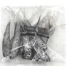 MNFT 12Pcs/Lot  7.5cm/1.8g Soft Bait Fishing Lure 3D Eye Soft Worm Silicone Bass Minnow Bait jig Wobbler Swimbaits Plastic Lure