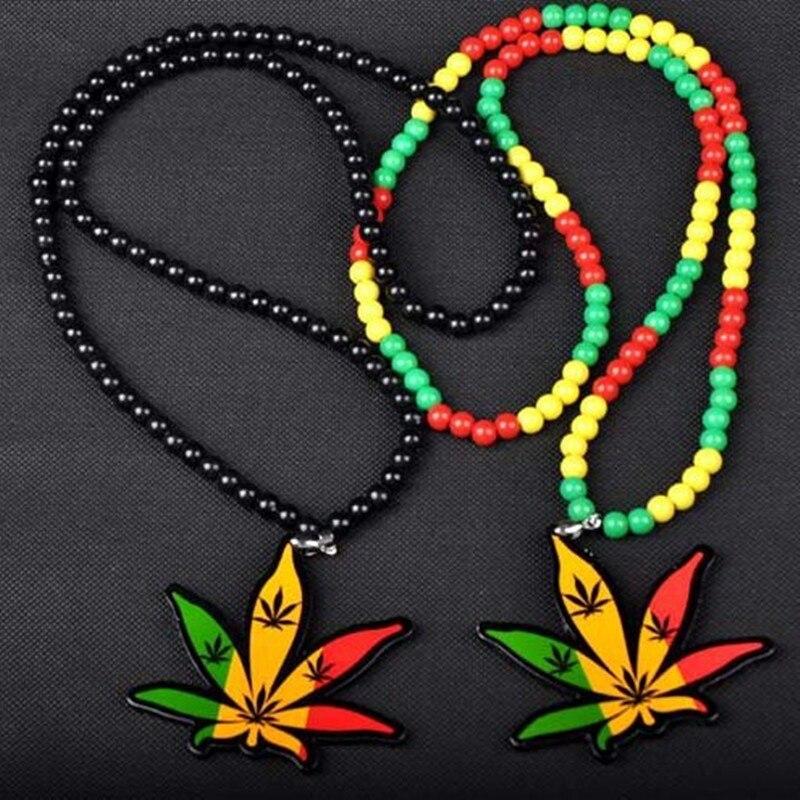 Online buy wholesale hemp pendants necklaces from china hemp aomu brand acrylic weed good wood collares hip hop men women colorful hemp pendants necklaces maple aloadofball Images