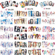 Nail Art Water Stickers Decals Set of 12pcs BN133-144 Transfer Sexy Lady Women Wraps Slider