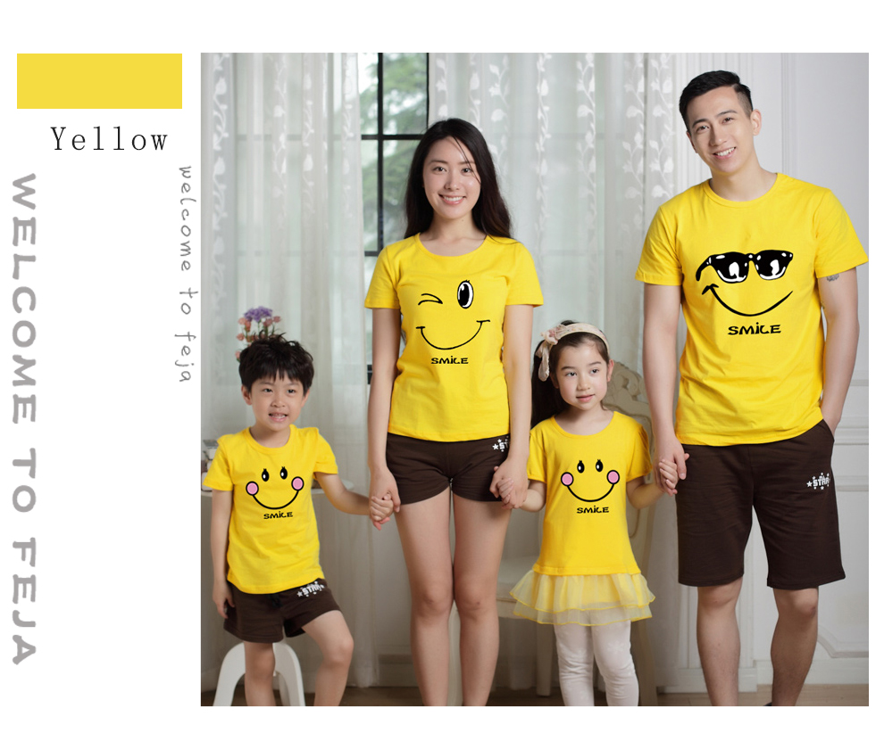 HTB1wyVyRXXXXXXdXpXXq6xXFXXXa - family matching clothes Mother daughter dresses outfits cotton casual T-shirts family Look cotton mother father son clothing