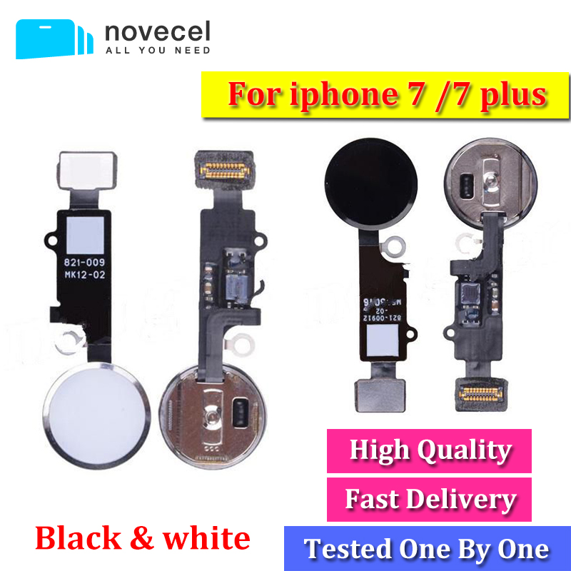High Quality For iPhone 7 / 7 plus Original Home Button Assembly Flex Cable Sensor Ribbon Complete Spare Parts Replacement W B G