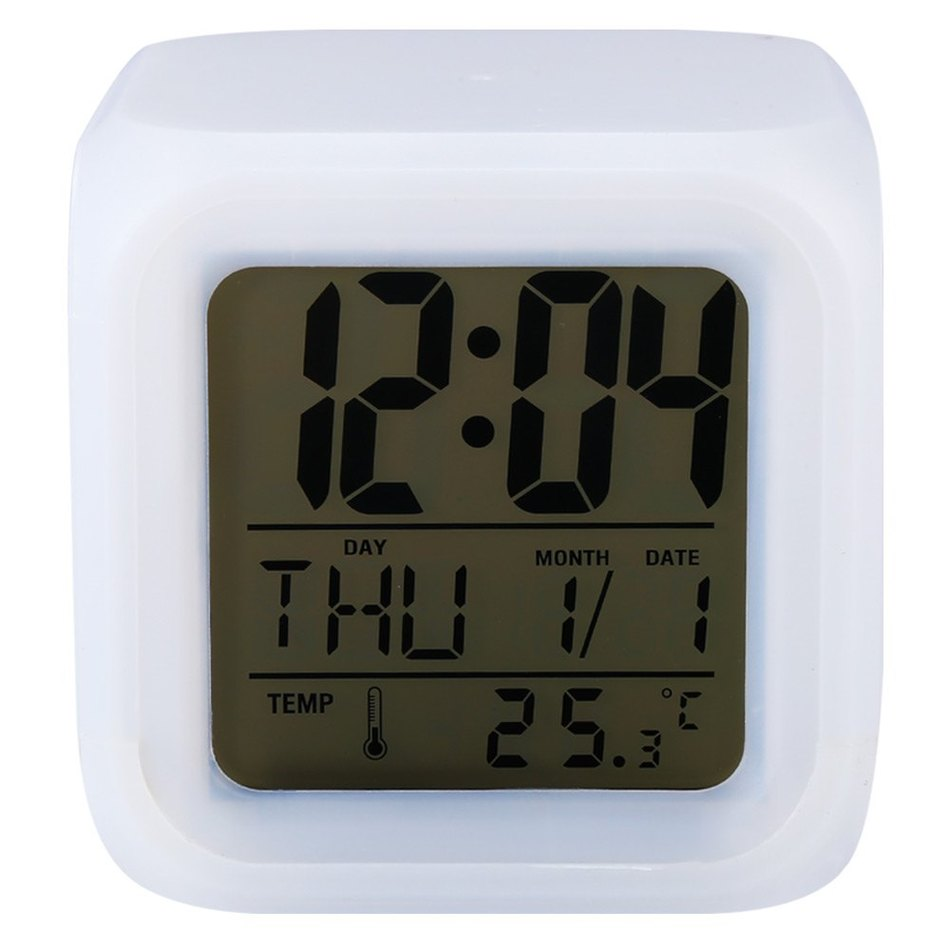 aliexpresscom  buy promotion cute  colour backlight modern  - cute  colour backlight modern digital alarm clock desk gadget digitalalarm thermometer night glowing cube lcd clock from reliable cube lcd clocksuppliers
