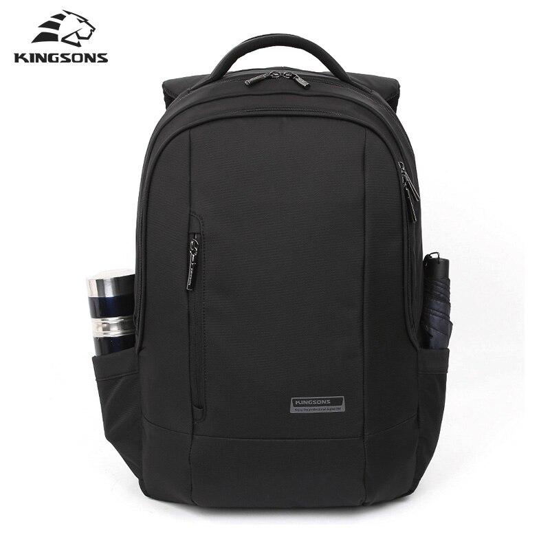 Фотография Kingsons Black Laptop Backpack Daily Rucksack Men Computer Bagpacks Mochila Feminina Bag School Bags Men