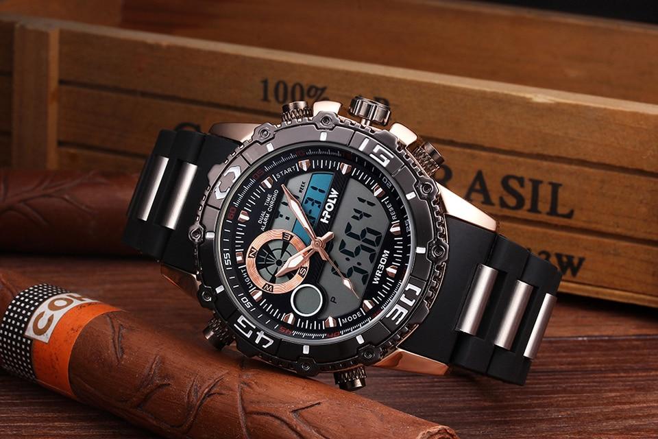 a50f5698d8b ... למעלה מותג יוקרה דיגיטלי-שעון Relogio Masculino חדש ספורט שעון גברים  2018 שעון זכר LED הדיגיטלי קוורץ יד שעוניםUSD 13.83 piece. 18 19 20 21 2 5  3 4 1 6 ...