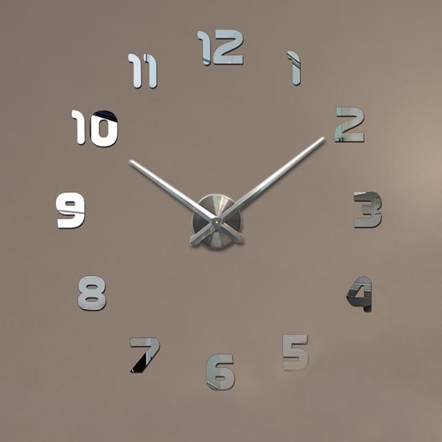 Grande orologio da parete Moderno Orologio di DIY 3D Sticker Schiuma ...