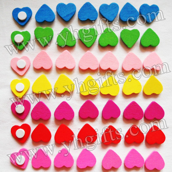 5000PCS/LOT.Wood heart stickers,Kids toys,scrapbooking kit,Early educational DIY.Kindergarten crafts.Classic toys