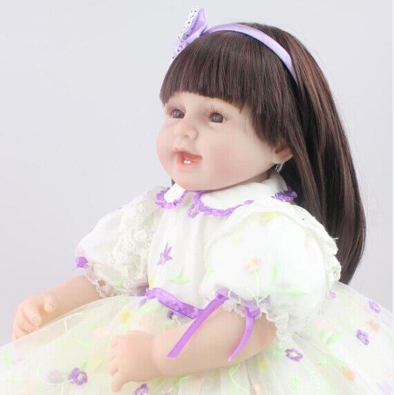 55 CM Reborn Baby Dolls Per Le Ragazze Realistici Reali Guardando vinile brinquedos meninas bonecas reborn giocattoli per bambini55 CM Reborn Baby Dolls Per Le Ragazze Realistici Reali Guardando vinile brinquedos meninas bonecas reborn giocattoli per bambini
