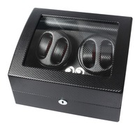 High End MABUCHI Motor Carbon Fiber Watch Winder For Automatic Watch Capacity For 4 Watches With