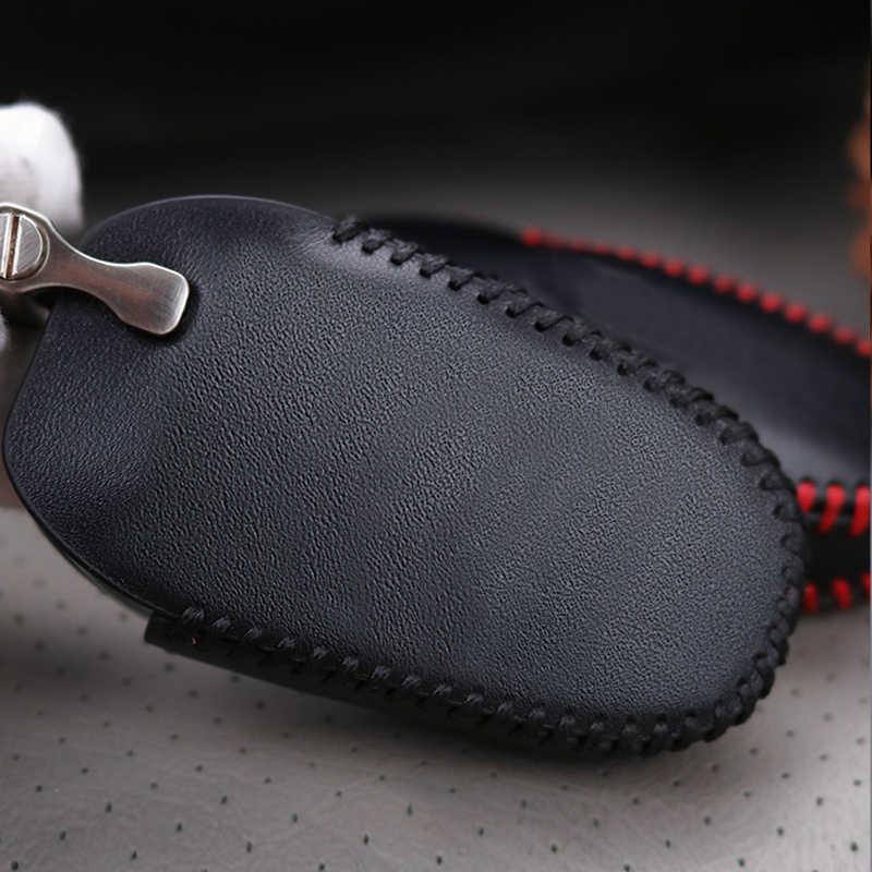 ¡Nuevo! Los hombres de cuero genuino de la llave del coche inteligente caso de la cubierta para Citroen C3 C4 C5 Xsara Picasso C8 c4L Elysee Berlingo clave anillo de la cáscara de la Caja