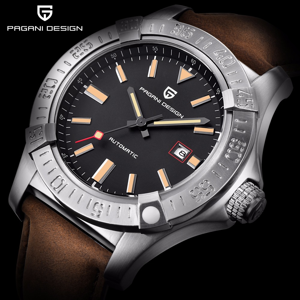 PAGANI DESIGN Men casual fashion luxury watch waterproof shockproof Stainless Stee Automatic mechanical watch Complete Calendar цена