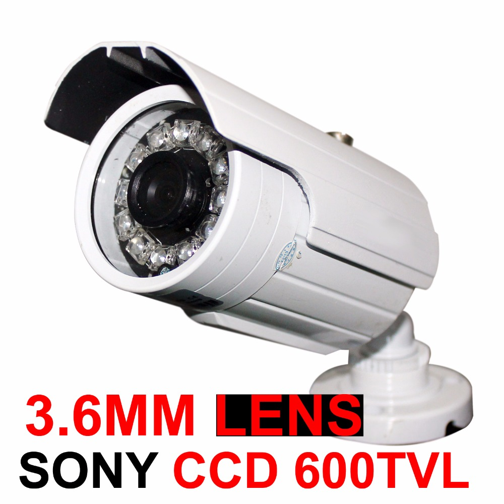 3.6mm 12LED IR SONY CCD 600TVL Infrared CCTV camera Outdoor OSD Menu Security Bullet With Bracket Home Surveillance Camera zea afs011 600tvl hd cctv surveillance camera w 36 ir led white pal