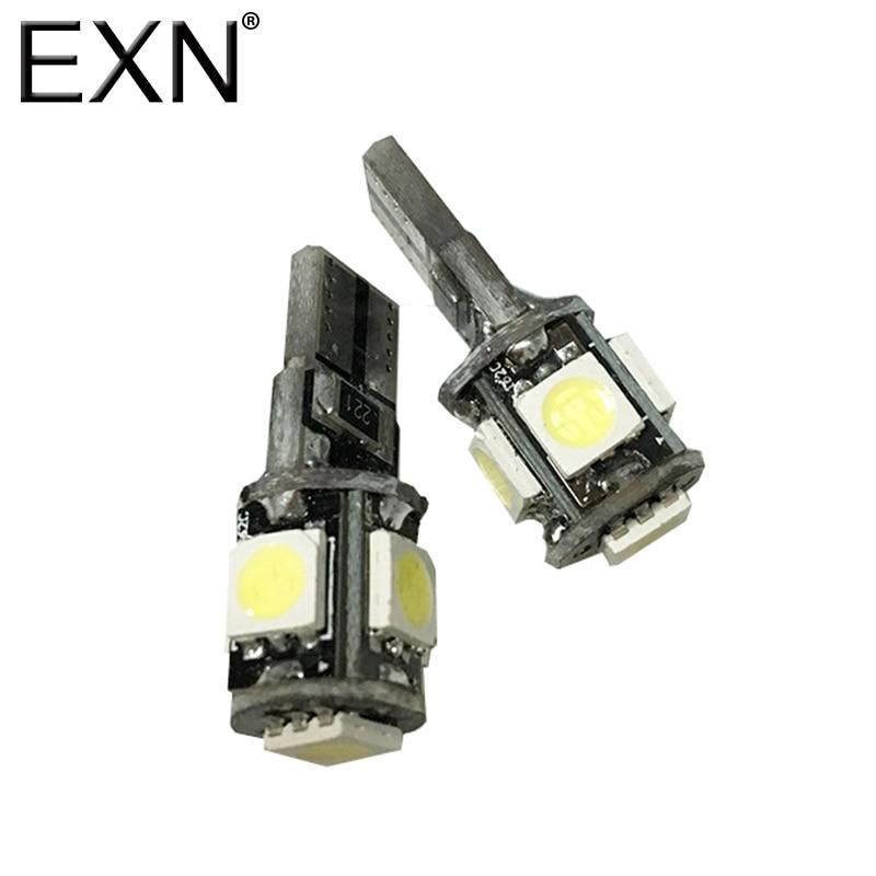 T10 Canbus <font><b>LED</b></font> Car Light Bulb T10 <font><b>W5w</b></font> 5 SMD <font><b>5050</b></font> 194 168 2825 Wedge <font><b>LED</b></font> Car Light Source Replacement Bulb Side Map Interior Lamp