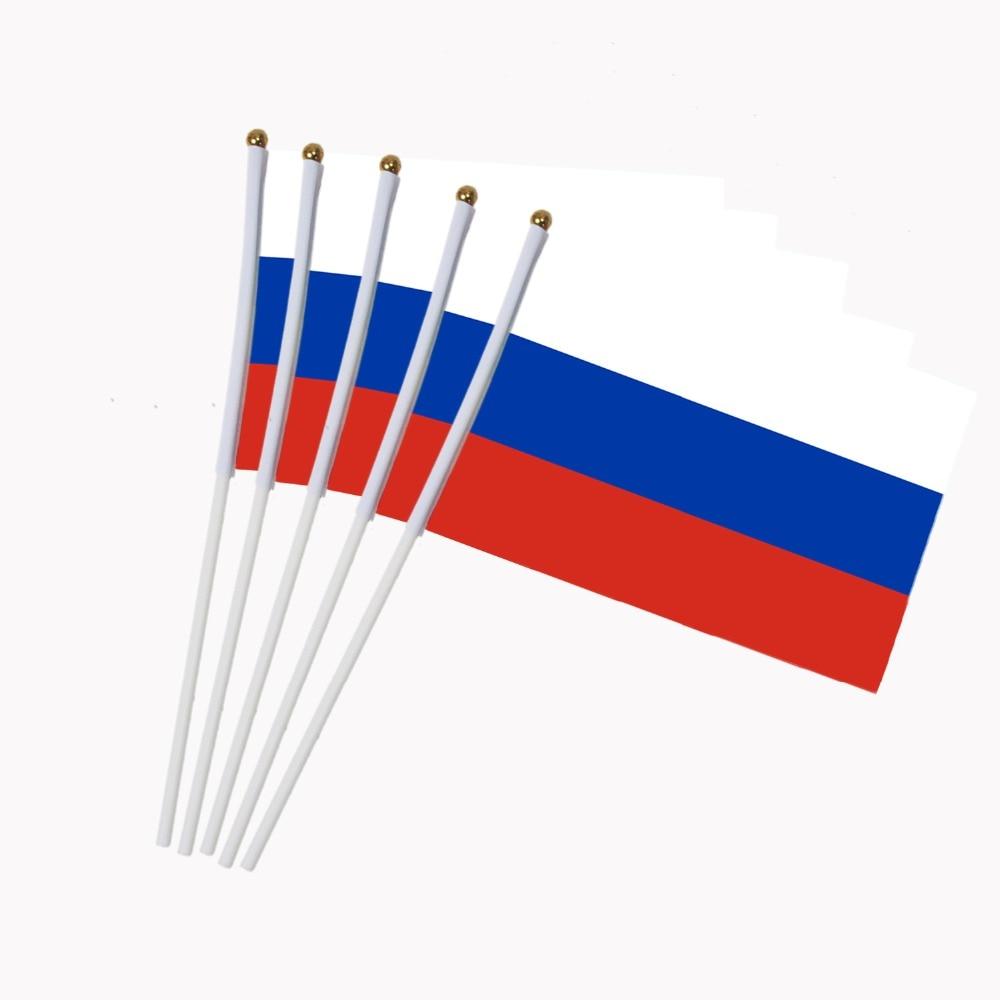 14x21 Cm 5 Stücke Kleine Russische Flagge Mit Kunststoff Fahnenmasten Aktivität Parade Sport Hause Dekoration Nc006 Warmes Lob Von Kunden Zu Gewinnen