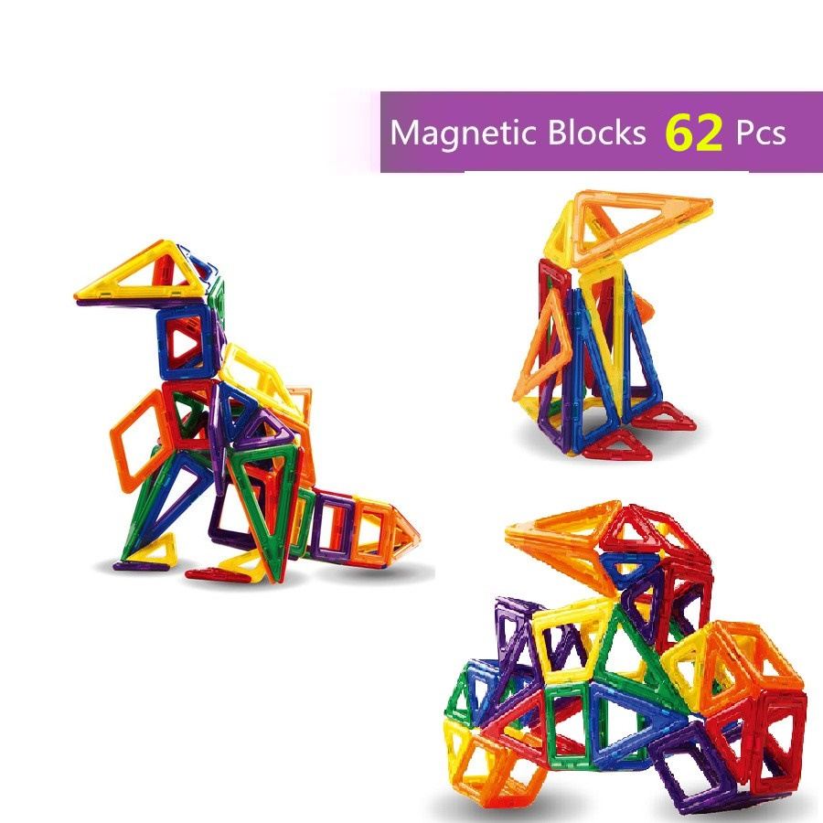 62pcs magnetic block toys kids gift magnetic blocks educational toys &Magnetic Designer Construction Set Model building block 62pcs set magnetic building block 3d blocks diy kids toys educational model building kits magnetic bricks toy