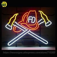 Neon Sign For Fire Fighter Neon Bulbs Signs Sport Lamp Handcrafted Glass Tube Recreation Room Unique