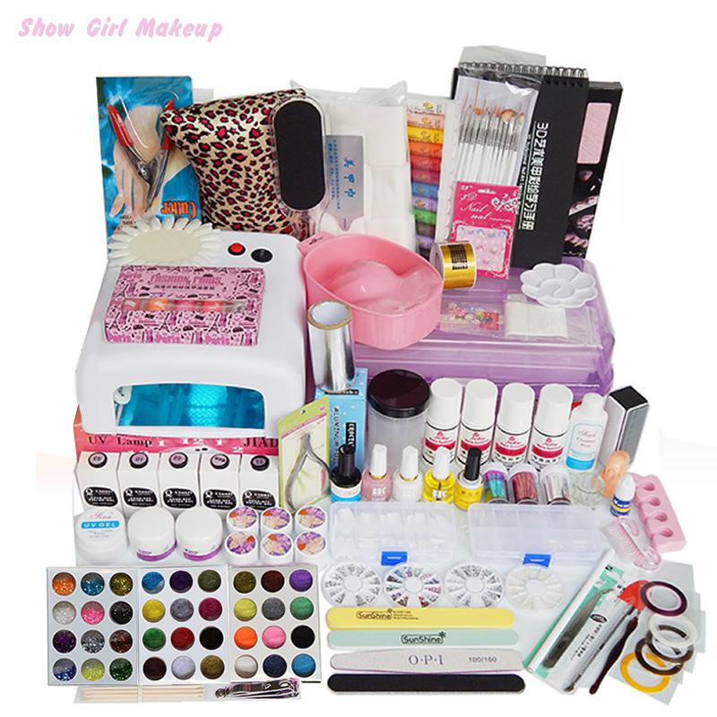 Nails art tools professional salon full nail manicure uv lamp nails art tools professional salon full nail manicure uv lamp acrylic glitter powder set diy kit lot vernis a ongles unha de gel in sets kits from beauty prinsesfo Images