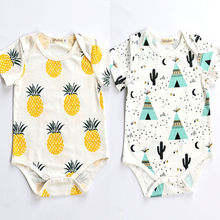 pineapple Printed 0-24M Baby Boy Girls Cotton Romper Jumpsuit Newborn Kids Clothes Outfit