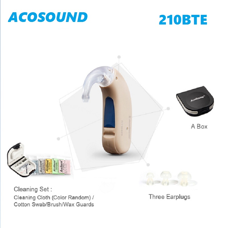 Acosound 210 BTE Hearing Aids Hearing Amplifier Digital Amplifier BTE Hearing Deaf Aids Hearing Devices For Elderly acosound invisible cic hearing aid digital hearing aids programmable sound amplifiers ear care tools hearing device 210if