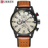 カレンカジュアル腕時計アナログ軍事スポーツメンズ腕時計レザーストラップクォーツ男性時計レロジオ Masculino のリロイのやつ