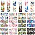 1 Hoja Nail Art Wrap Transfer Agua Nails Pegatinas Serie Mariposa Tatuajes de Agua Pegatinas de Decoración Herramientas Envolturas A1297-1308