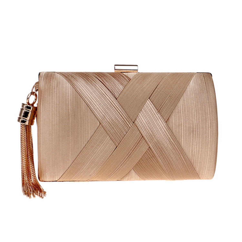 JHD Tassel Fashion Ladies Clutch Bag Shoulder Handbags Female Party Wedding Evening Bag For Phone Purse