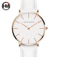 Dropshipping Japan Quartz Simple Women Fashion Watch White Leather Strap Ladies Wrist Watches Brand Waterproof Wristwatch