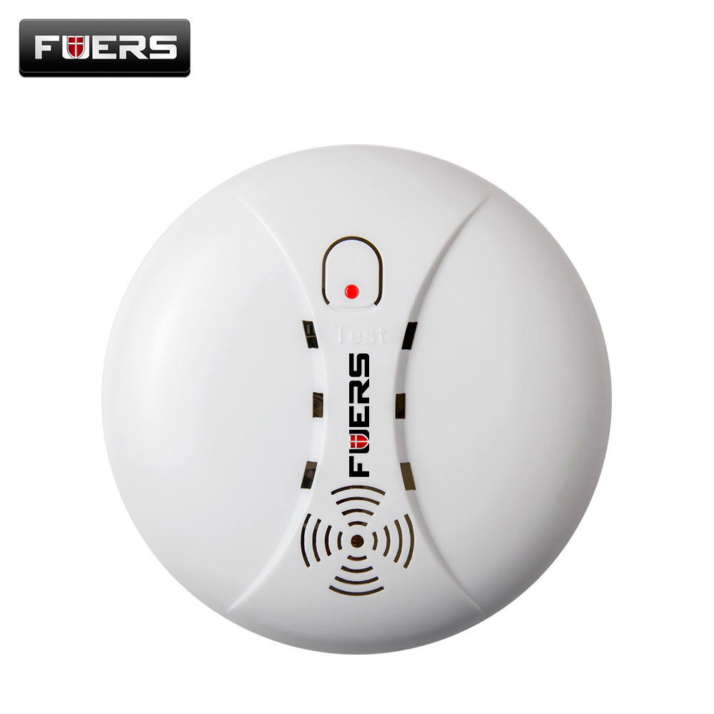 Wireless Smoke Detector Alarm System Alarm Accessories Sensitive Smoke/fire Detector For Home Security Alarm System  433Mhz wireless smoke fire detector smoke alarm for touch keypad panel wifi gsm home security system without battery