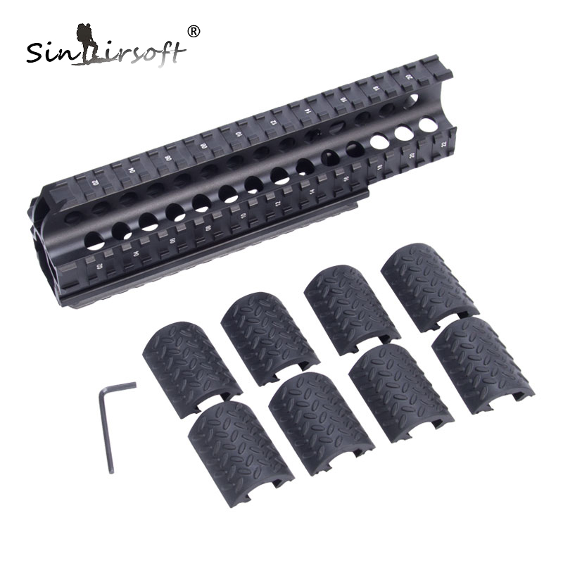 Système Quad Rail tactique pour 7.62X39/. 223 non adapté Saiga 308 ou Saiga 12 MNT-HGSG39 portée supports et accessoires avec couvercles en caoutchouc