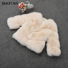 2019 New Fluffy Real Fox Fur Jacket Fashion Womens Genuine Coat Winter Thick Wholesale FREE SHIPPING Top Quality S7431