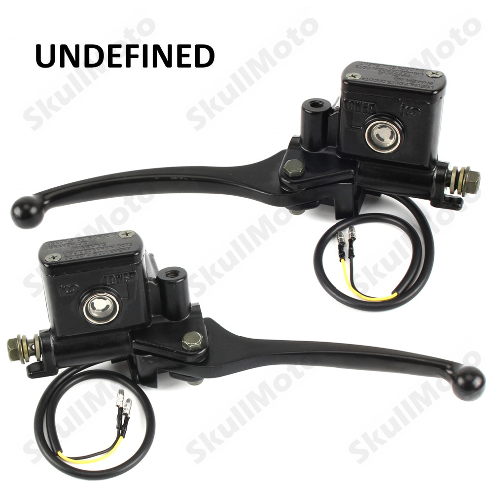 Universal 7/8 22mm Motorcycle Handlebar Front Brake Clutch Lever Master Cylinder Hydraulic Pump Brake Lever for Dirt Bike ATV