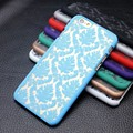 Casos para iphone 5s 5 5g 6 6 s plus de goma damasco vintage multicolor patrón hard case para samsung galaxy s4 mini/s3mini