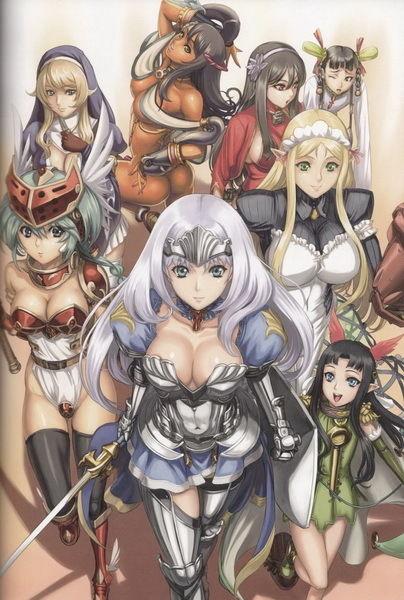[Top 10] 10 Gostosas dos Animes - Personagens Femininas mais Sexys dos ANIMES 009-font-b-Queens-b-font-Blade-Grimoire-Sexy-Girl-Fight-Japan-Anime-art-silk-Poster