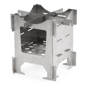 Image 2 - Lightweight Titanium Folding Wood Stove Outdoor Camping Stove Picnic Cooking Backpacking Furnace Outdoor Camping Stove