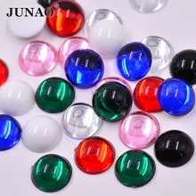 15mm Mix Color Acrylic Rhinestones Round Shape Cabochon Flatback Strass  Crystal Stones For Clothes Crafts 200pcs 4d8d679df8fc