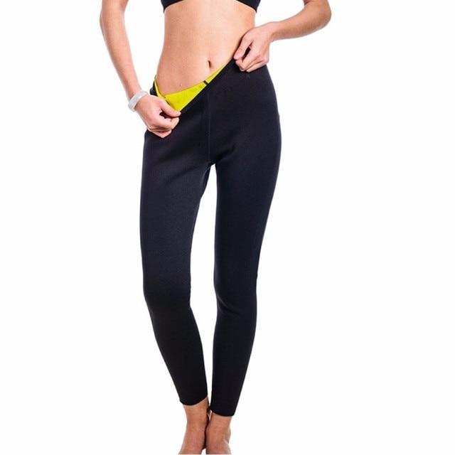b1858f7163422 NEW Long Sauna Pants Neoprene Legging Control Panties Fitness Bodyshape  Shaper Slim Super Stretch Capris Trouser Pant Women