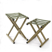 SUFEILE 1PC Outdoor folding stool military green military Mazza wild fishing chair portable fishing stool SY17