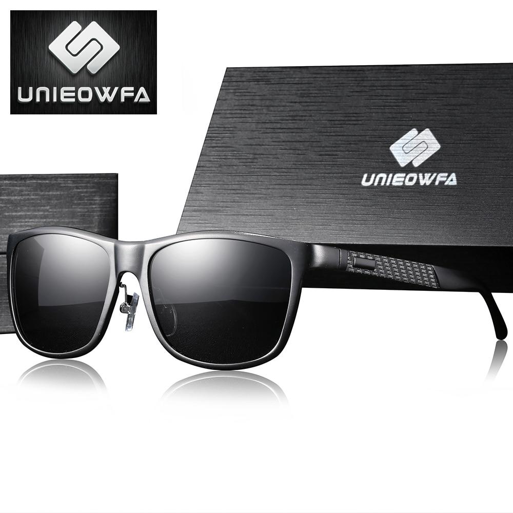 UNIEOWFA Polarized Prescription Sunglasses Men Optical Myopia Sun Glasses Male Aluminum Magnesium Square Prescription Eyeglasses