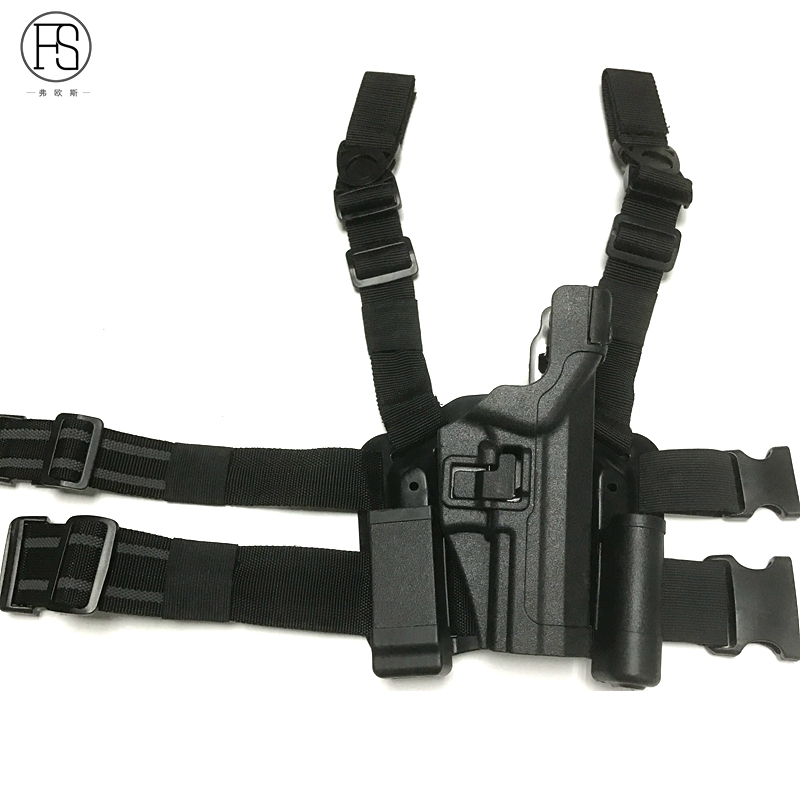 LV3 Tactical Compact Holster Tactical Leg Holster With Magazine Pouch Quick Drop HK USP Pistol Belt Holster for HK USP Gun in Holsters from Sports Entertainment