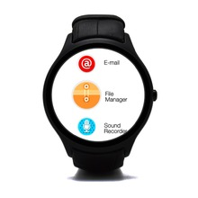 Dual-Core-Smart Watch Android 4.4 Bluetooth 3G WiFi GPS Schrittzähler Heart Monitor 512 MB RAM SmartWatch iOS & Android Smartphone