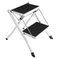 120 кг загрузка противоскользящая складная лестница маленький 2 протектор безопасности шаг лестница складные шаговые стулья с поддоном для ...