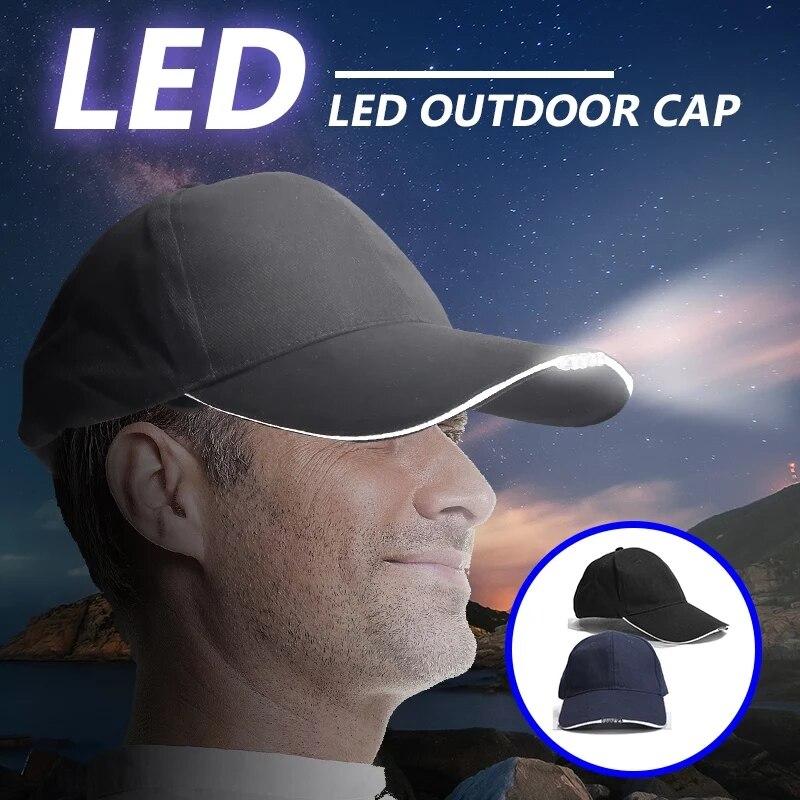 LED Light Headlight   Baseball     Cap   Fashion LED Lighted Hat   Baseball     Cap   Headlamp Head Lamp Lantern For Camping Cycling   Cap