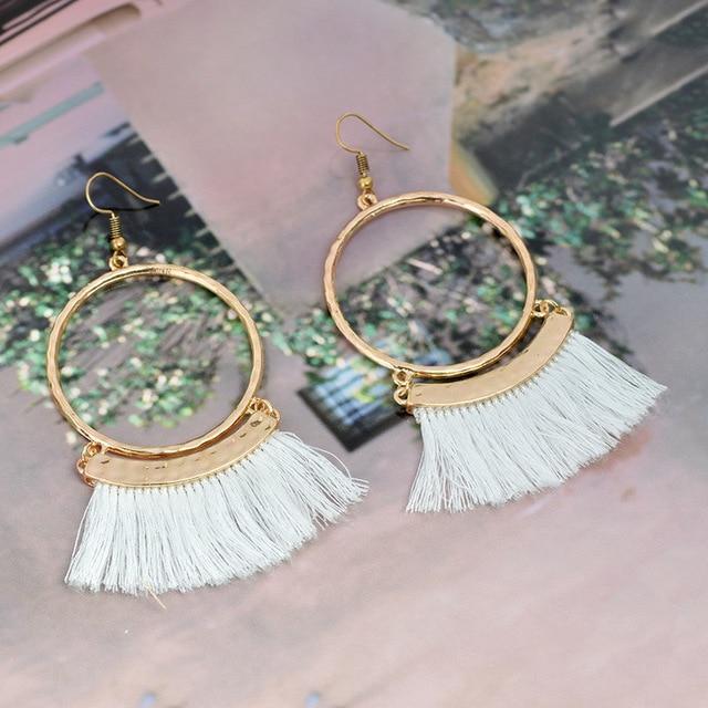 Серьги подвески naomy & zp в богемном стиле женские круглые